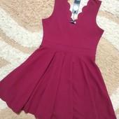 Стильное фактурное платье Boohoo, размер 12
