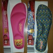 Детские ортопедические стельки emoji, германия, синие - размер 32,33, розовые - 32