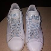 Без дефектов! Чудесные удобные кожанные кроссовки adidas!р 40,5, ст 25,5 см!