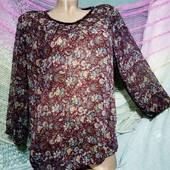 ❤️☀️❤️Нежная, лёгкая, шифоновая блуза. Состояние идеальное. Рр м(12),40.