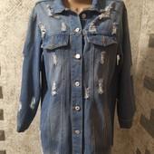 Джинсовый пиджак размер 46-50