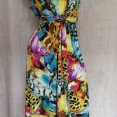 платье с удлиненными боками вискоза