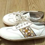 Кожаные туфли спортивные на выпускной