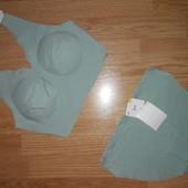 Стильный мятный комплект с кружевом женского белья (трусики+бюстье) Gina Benotti, р.36/38евро