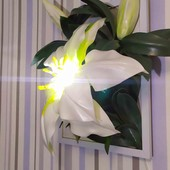 3D картина ночник Лилия. Светильник.