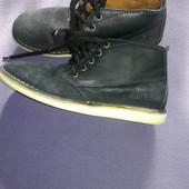 Ботинки натур замш кожа стелька 23,5 см