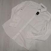 Германия! Мужская коттоновая рубашка, воротник 39 размер М, смотрите замеры!