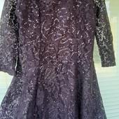 Шикарное элегантное гипюровое платье F&F для принцессы 12-13 лет в идеале