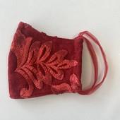 Женская защитная маска Кружево Трехслойная