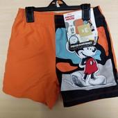 Disney шорты с  подкладкой сеточкой 122-128