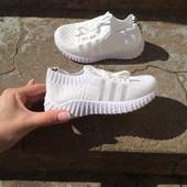 Кроссовки белые р24-15.5 см