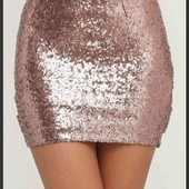Блестящая юбочка в золотые пайетки от New Look, p. M-L.