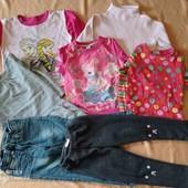 Пакет одежды на девочку 3-4годика.