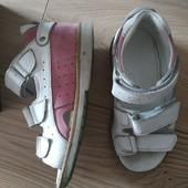 Ортопедические кожаные босоножки 26р на любую полноту ноги и подъем