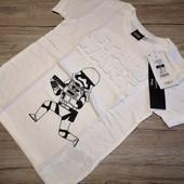 Польша! Cool club! Оригинальная футболка Star wars на мальчика рост 122 см.