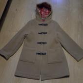 Шерстяное пальто Benetton состояние отличное