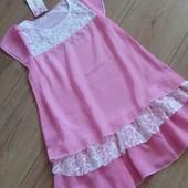 Два цвета.Красивое воздушное платье для девочек.