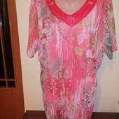 Красива блуза на пишні форми, стан нової, без нюансів!