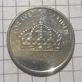 Монета Швеции 1 крона 2012