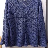 Фирменная очень нарядная блуза гипюр +майка (набор). Р-р L, состояние отличное.