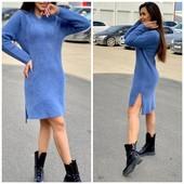 Бомбездное платье/туника из шерсти Альпако.Качество выше цены.Три цвета.