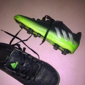 Обувь для футбола. бутсы копы копочки сороконожки чёрные стелька 20 см Adidas