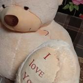 Вау!порадуйте подарком!супер гигант.плюшевый медведь рост 175см.новый.