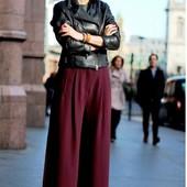 Идеальные широкие бардовые брюки primark,р.12,сток