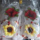 Пышные обьемные банты маки подсолнухи