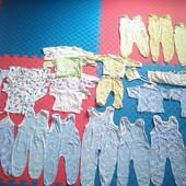 Большой пакет одежды для мальчика на лето 0-3 месяцев