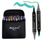 Набор спиртовых маркеров Touch Coco 48 цветов для рисования и скетчинга