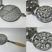 Форма для выпечки вафель, печенья , орешков, коржей, орешница , вафельница круглая.