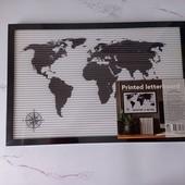 """Декоративная рамка """"Карта мира"""" с символами, Еdeka"""