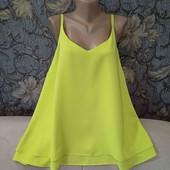 Новая, двухслойная, яркая блуза, George, p. 4XL