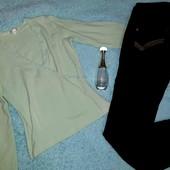 Классные джинсы+кофточка с кружевом,S-M