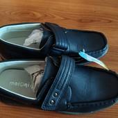 Классные новые туфли синего цвета внутри кожа 36 р.