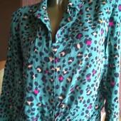 Летняя блуза из вискозы /новая без бумажной этикетки