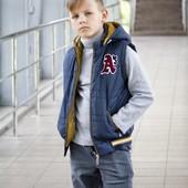 2 в 1 Куртка-жилетка для мальчиков р.128, 134