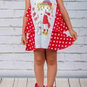 Супер!!! Оригинальное платьице на девочку.