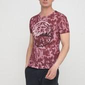 Светло-бордовая летняя футболка с коротким рукавом