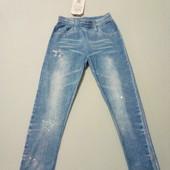 Лосинки легкі, невагомі на спекотну погоду, імітація джинсів