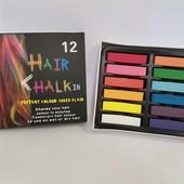✅ Цветные мелки для волос Hair Chalk 12 шт