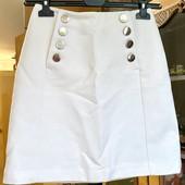 Белоснежная фирменная юбка! Новый сток H&M