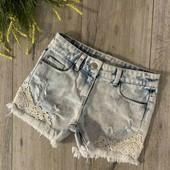 Шикарные рваные джинсовые шортики Denim,на девочку 7-9 лет
