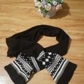 Супертеплый объемный шарф на флисе с орнаментом УП 15%, НП 5% скидка!