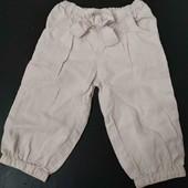 не пропустите!!!! льняные штанишки Next  размер 9-12 мес