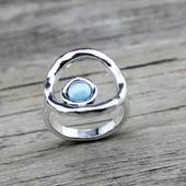Винтажное большое женское кольцо. Размер 18