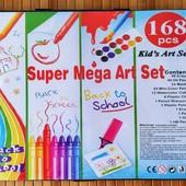 Художественный набор для детского творчества в чемодане Super Mega Art Set 168 предметов| Набор для