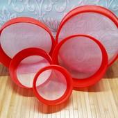 Сита пластикові для борошна набір з 5 штук | Набор пластиковых сит Round Strainer, 5 шт |