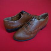 Туфли броги F&F Brown 39 размер 25 cm